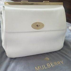 "Authentic Ivory Mulberry ""Suffolk"" Bag- Large"